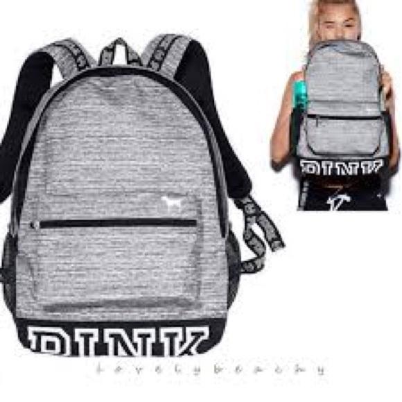 94136758b216b Victoria's secret pink gray marl backpack